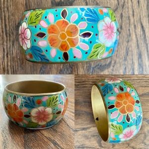 H&M Brass Painted Floral Bangle